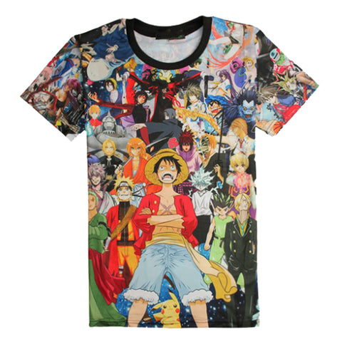 Tee shirt One Piece mosaïque impression 3D