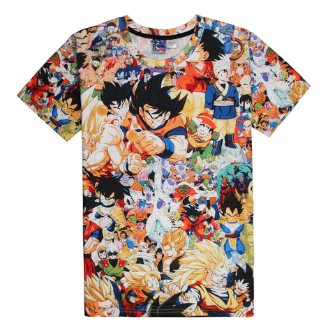 Tee shirt Dragon Ball mosaïque impression 3D