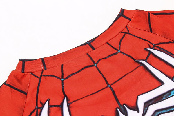 Tee shirt fitness Spider-Man version gaming
