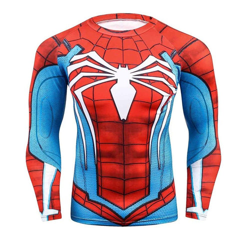 Tee shirt fitness manches longues Spider-Man version gaming