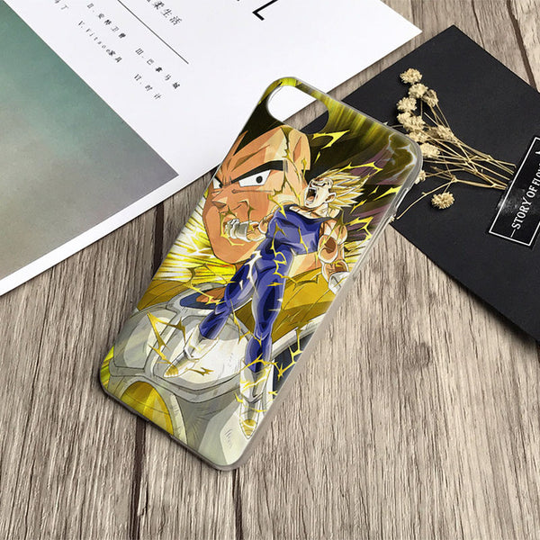 Coque de téléphone transformation super Vegeta pour Apple iPhone