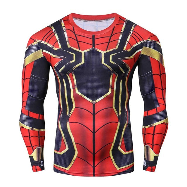 Tee shirt fitness manches longues Iron Spider