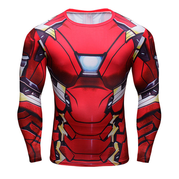Tee shirt fitness manches longues Iron-Man Infinity War