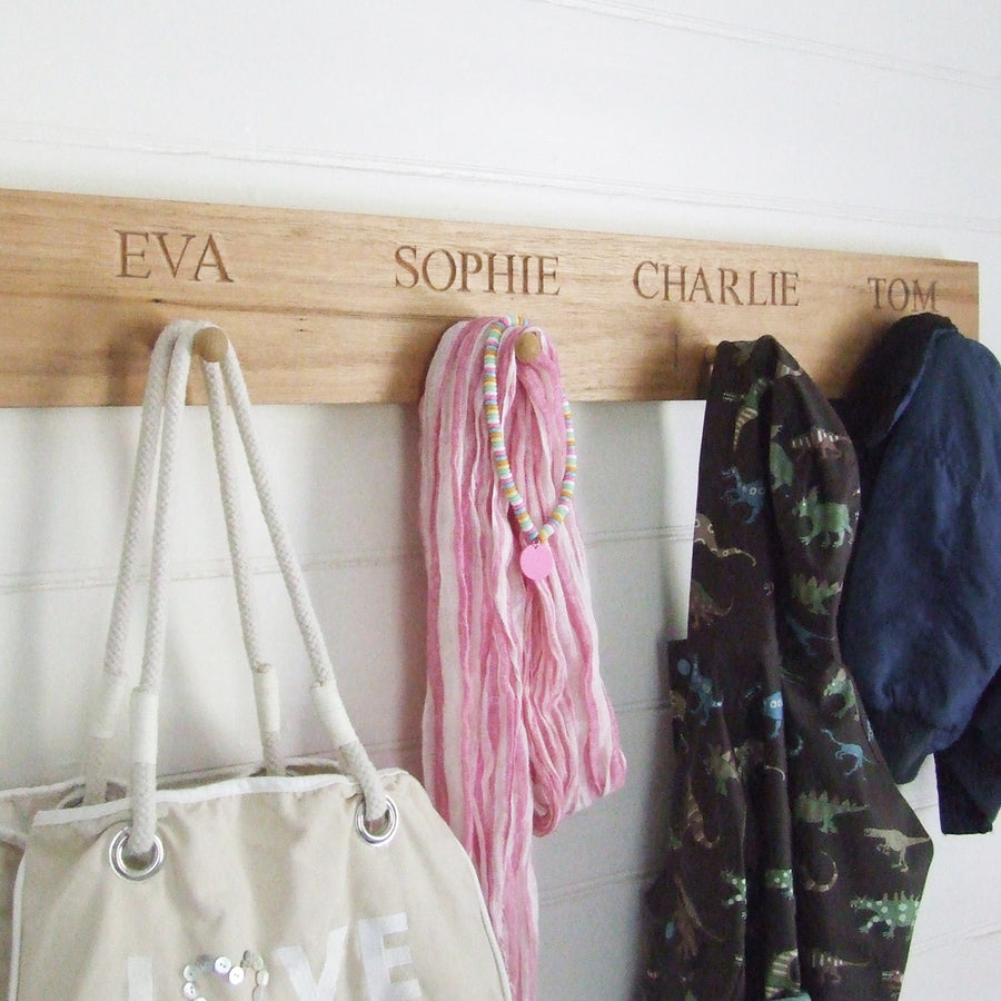 personalised shaker peg rail