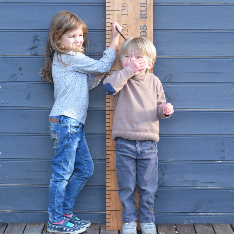 personalised wooden ruler height chart