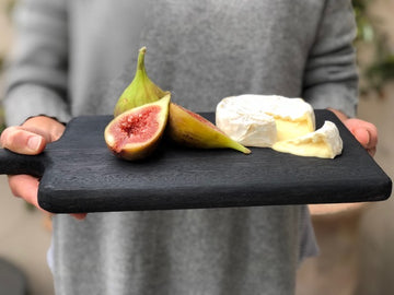 natural black serving boards