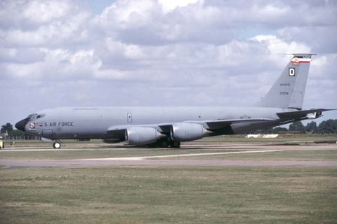 KC-135R 63-7979/D USAF/351stARS,100thARW (USAFE) - nose art 'The Savage' Aug-98