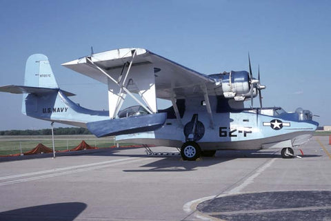 PBY-6A N7057C flew in US Navy colours May-93