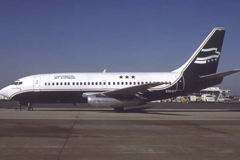 B.737-200 N304XV Continental Jet Express Oct-87