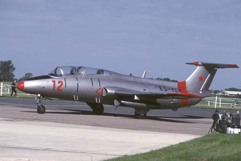 Aero L-29 Delfin flew as ES-YLM Feb-96