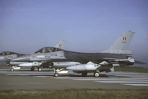 F-16A FA-89 Belgian AF at RAF Waddington May-01