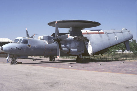 E-2C 942 Israeli AF preserved Hatzerim Jul-98