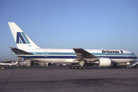 B.767-200ER G-BYAA Britannia Airways titles Mar-92
