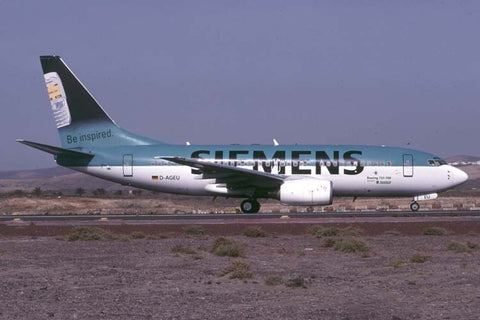 B.737-700 D-AGEU Germania Oct-02 - Siemens logo jet