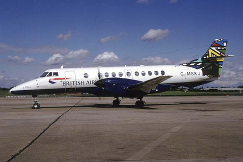 Jetstream 41 G-MSKJ British Airways - 'Ndebele Martha' World Colours tail Dec-97