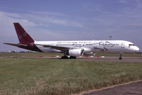 B.757-200 G-OBWS British World Airlines Aug-01