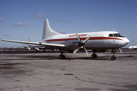 CV.640 N94246 Kitty Hawk Air Cargo Nov-92