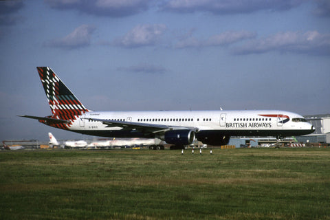 B.757-200 G-BIKO British Airways - 'Benyhone Tartan' World Colours tail Jul-00