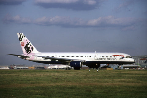 B.757-200 G-BIKN British Airways - 'Rendezvous' World Colours tail Jul-00