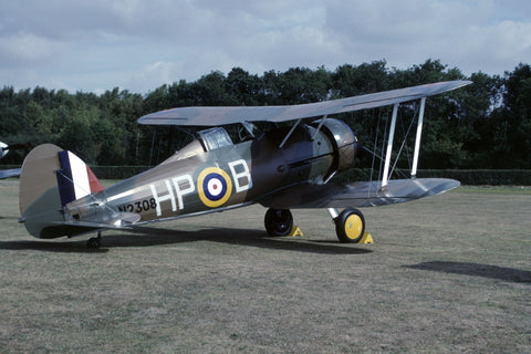 Gladiator Mk.1 N2308/HP-B RAF flew as G-AMRK Aug-90