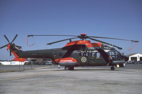 Hkp10 Super Puma 10412/89 Swedish AF/F.15 Jul-96