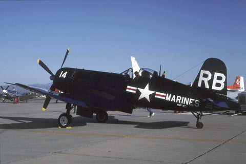 F4U-5NL 124486/RB-14 USMC/VMF-451 flew as N49068