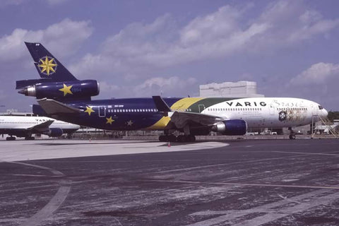 MD-11 PP-VPP Varig World Cup special colours at Miami IAP, Fl