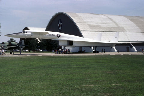 XB-70 62-0001 USAF a rare outside shot at the AF Museum Aug-87