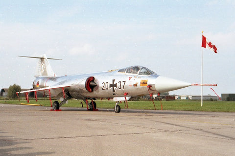 20+37 F-104G West Germany AF/LVR-1 all silver c/s