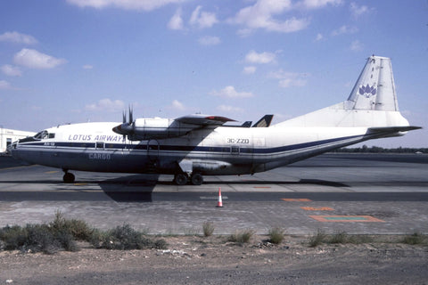 An-12B 3C-ZZD Lotus Airways Cargo Feb-01