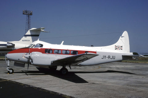 Dove 7 JY-RJU Jordanian Historic Flight Jul-99