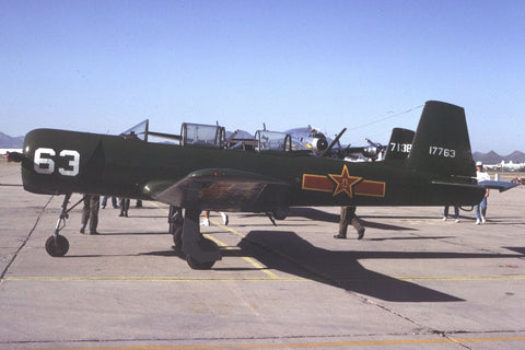 Nanchang CJ-6 1'17763' flew as N4184W Oct-92