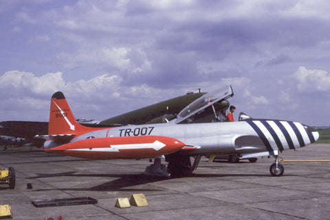 '91007' T-33A USAF flew as G-TJET Jun-83