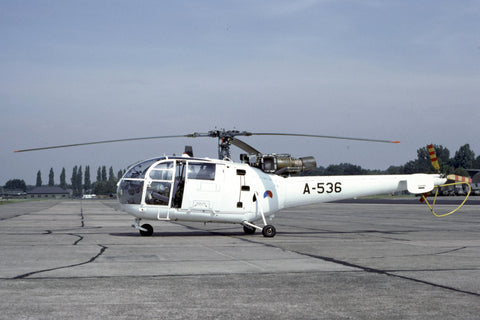 Alouette III A-536 Netherlands AF UN white c/s Aug-92