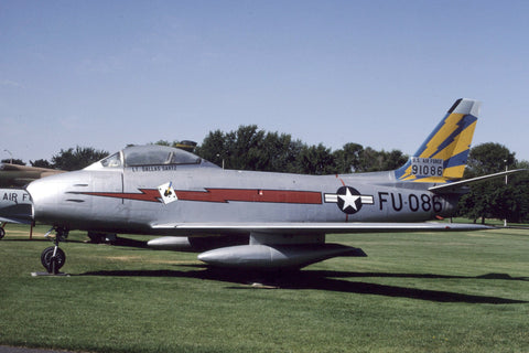 Sabre MK.5 23344 USAF ex RCAF preserved at Fairchild AFB, WA Aug-96