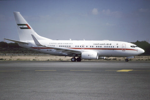 B.737-700 A6-SIR UAE Presidential Flight Feb-01