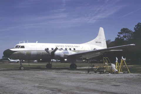 VC-131F N8149H ex. USN 141008 at Beaufort Mar-00
