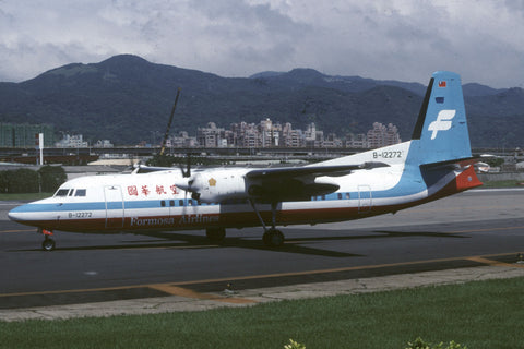 Fokker 50 B-12272 Formosa Airlines Oct-95