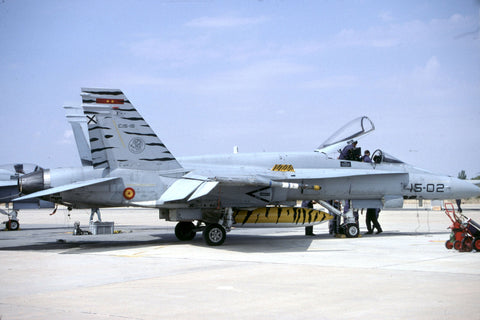 EF-18A C.15-15/15-02 Spanish AF/Ala15 Oct-06 - tiger c/s