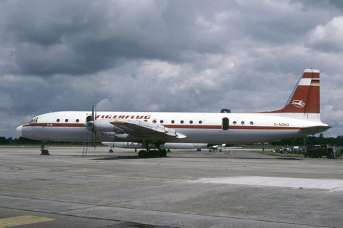 D-AOAO IL-18 Tigerflug B Air Jul-91