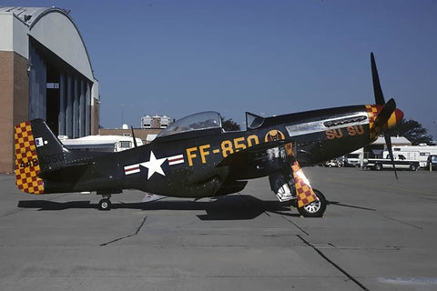 P-51D 44-84850 flew as N514NH 'Su-Su' Jul-98