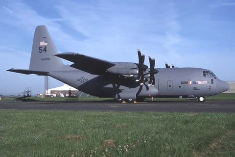 C-130J N4099R/54 Lockheed demo a/c at Cambridge Jul-98