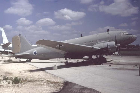 C-47 030/4X-FNN Israeli AF - stored Tel Aviv May-99
