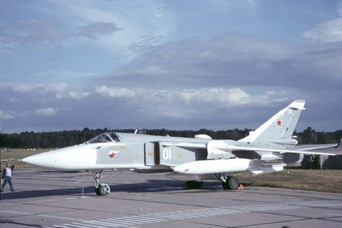 Su-24 Fencer 01white Russian AF Aug-91