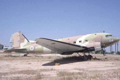 C-47 004/4X-FNL Israeli AF - stored Tel Aviv May-99