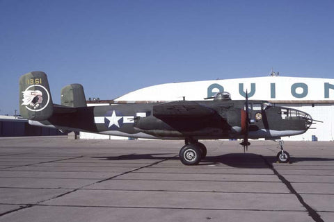 B-25 marked '1361' on fin - large Indian Head Oct-93