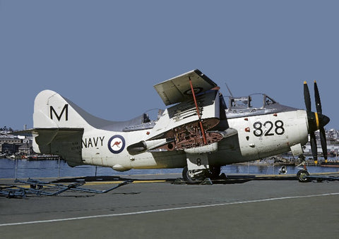XG787 M-828 Gannet AS.1 Australian Navy 816Sqdn Auckland Harbour Sep61