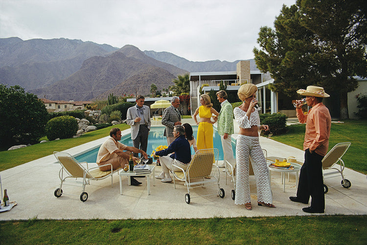 "Slim Aarons - ""Desert House Party"" 1970"
