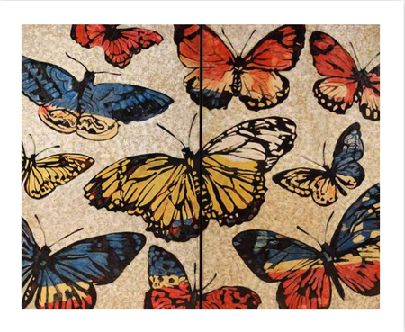 """Lacquered Butterflies"" by David Bromley"