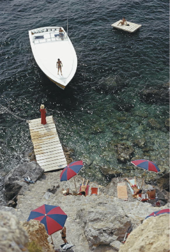 "Slim Aarons - ""Coming Ashore"" - 1973"